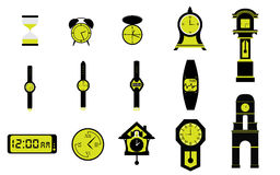 Types of Clocks Watches and Time Royalty Free Stock Photos