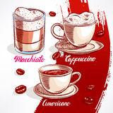 Types of coffee Stock Image