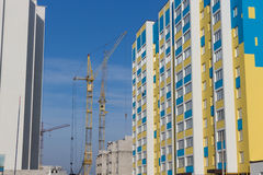 Types of construction of city buildings Stock Images