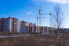 Types of construction of city buildings stock photography