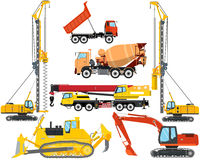 Types of construction equipment Royalty Free Stock Images