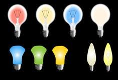 Types d'ampoule Photo stock