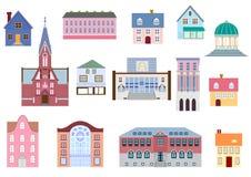 Types de bâtiment d'architecture illustration stock