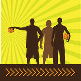 types de basket-ball Images libres de droits