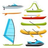 Types de bateau Images libres de droits