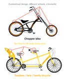 Types de bicyclette, ensemble III Photographie stock libre de droits