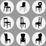 Types de chaise réglés photographie stock