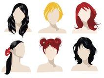Types de cheveu Photo stock