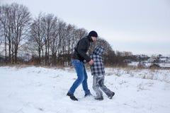 Types de combat de neige image stock