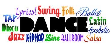 Types de danse illustration libre de droits