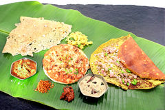 3 types de dosas Photos stock
