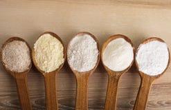 Types de farine Photos libres de droits