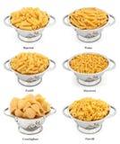 Types de pâtes photos stock