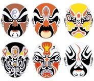 Types de renivellement facial dans l'eleve réglé d'opéra de Pékin Image stock