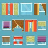Types de rideaux Illustration de vecteur illustration stock