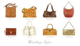 Types de sac à main Photos stock