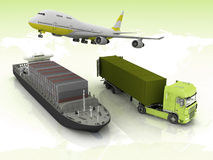Types de transport illustration stock