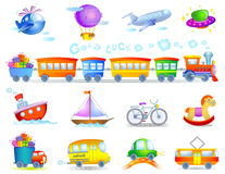 Types de transport Photo stock