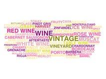 Types de vin Photos libres de droits