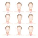 Types de visage de femme Image stock