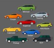 Types de voitures Images stock