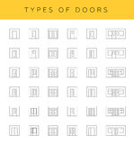 Types of doors Royalty Free Stock Image