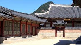 Types du palais Gyeongbokgung Séoul, république de Corée Photographie stock