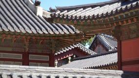 Types du palais Gyeongbokgung Séoul, république de Corée Photographie stock libre de droits