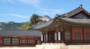 Types du palais Gyeongbokgung Séoul, république de Corée Images libres de droits