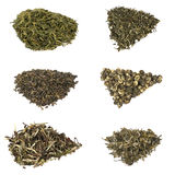 Types of elite chineese green tea Royalty Free Stock Photos
