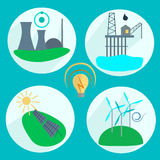Types of energy production Royalty Free Stock Image