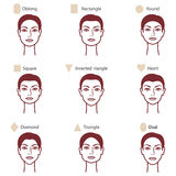 Types of face2 Royalty Free Stock Photo