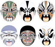 Types of facial make-up in Beijing opera set ten Stock Photo