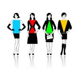 Types of figure. Four types of a female figure on a white background Stock Image