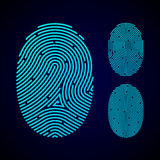 Types of fingerprint patterns. On black Royalty Free Stock Photos