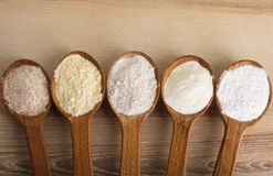Types of flour Royalty Free Stock Photos