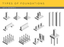 Types of foundations Royalty Free Stock Image