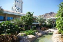 Types of Fujairah resorts. Resorts Fujairah. UAE. Coast of the Indian Ocean. Hotels and recreation areas on the shores of the Indian Ocean. Beautiful Stock Images