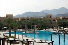 Types of Fujairah resorts. Resorts Fujairah. UAE. Coast of the Indian Ocean. Hotels and recreation areas on the shores of the Indian Ocean. Beautiful Stock Photos