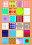Types of handkerchiefs. Royalty Free Stock Images