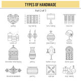 Types of handmade set Stock Photography