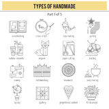 Types of handmade set Stock Photography