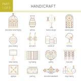 Types of handmade set Royalty Free Stock Photos