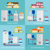 Types of heating systems. Royalty Free Stock Photography
