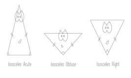 Types of isosceles triangle vector Royalty Free Stock Photo