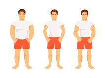 Types of male figures Royalty Free Stock Photo