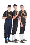 Types mignons dans la forme pour le jeu du base-ball Photo libre de droits