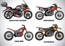 Types of motorcycle part 2. Vector of types of motorcycle part 2 Royalty Free Stock Image