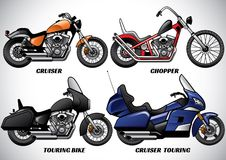 Types of motorcycle part 3. Vector of types of motorcycle part 3 Stock Images
