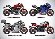 Types of motorcycle part 1. Vector set of types of motorcycle part 1 Royalty Free Stock Photography